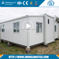Manufacturer price prefabricated mobile shipping 20ft 40ft folding expandable luxury container house