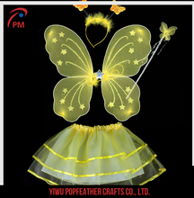 PM-136 Wholesale children performance props single layer fairy wings for girls