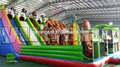 2017 newest pvc Boonie Bears safari zoo animal Commercial tropical inflatable slide