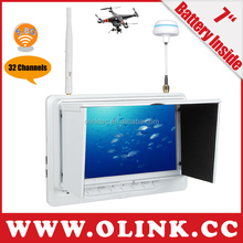"OLINK fatshark transmitter with 5.8G receiver 7"" battery powered FPV lcd Monitor"