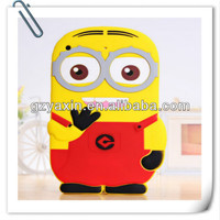 Hot sale 3D silicone Minion despicable me 2 case for ipad mini