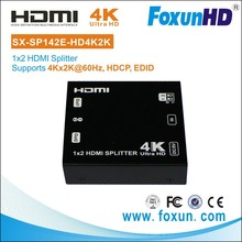 Foxun supplied OEM 1 Input 2 Output 1x2 3D 4K2K at 60HZ 1080P HDTV Video Splitter HDMI splitter