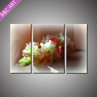 Stretched Interior Wall Art Canvas Decoration Flower Picture Painting for Living Room