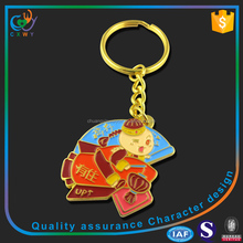 Paint color gold keychains keyring