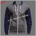 2017 men wholesale customized high quality fitness Zip Up Hoodie stringer gym mens hoodies