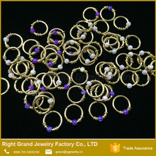 Factory Price Septum Ring Opal Free Sample Nose Rings
