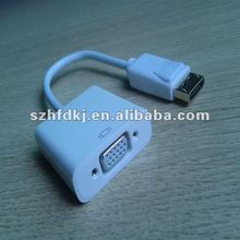 Displayport to VGA adapter cable for DP/MDP