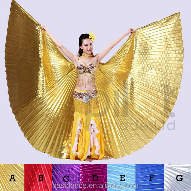 BestDance belly dance white isis wings belly dancing isis wings with two sticks OEM