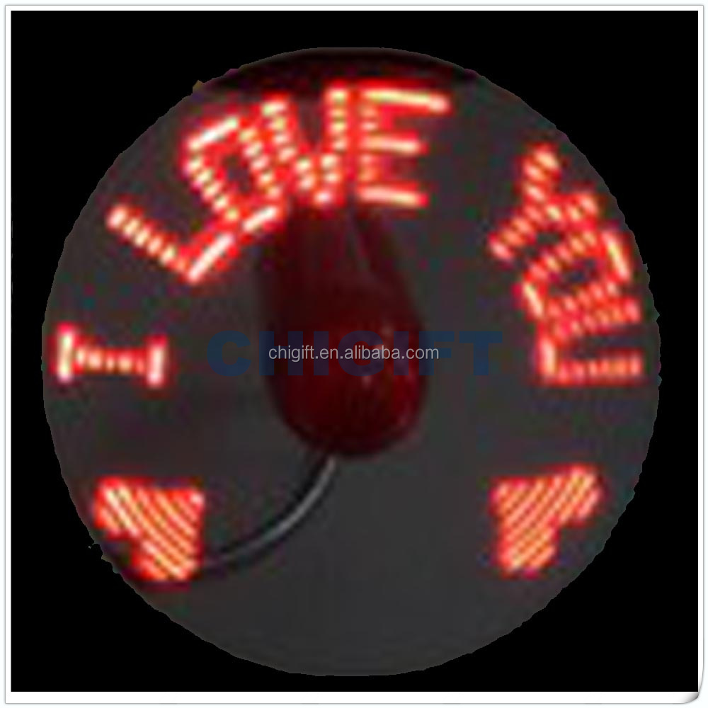 Wedding Gifts USB Programmable LED Message Fan