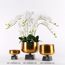 Decorative wholesale small vases gold metal home decoration