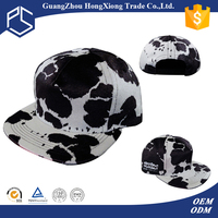 Design your own high quality funny cow print snapback cap
