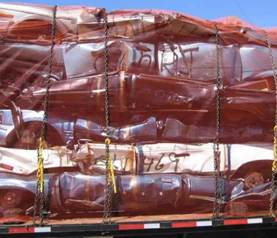 Plastic Bi-oriented Metal scrap Containment Cargo Transport Shipping Orange safety Polypropylene PP Netting