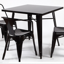 Best selling Modern metal frame used restaurant table and chair