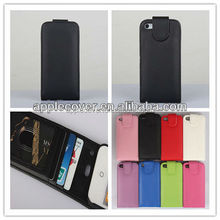High quality Flip Leather Full Cover Case for iPhone 5/5S with card slots inside , for iphone 5/5S phone case universal