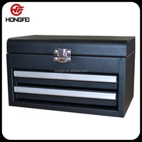 Mini Black 2 Drawer Metal Tool Case