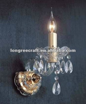 1-light Crystal Candles Wall Sconces