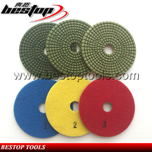 4inch Granite And Marble Surface Wet Polishing 3 Steps Pads