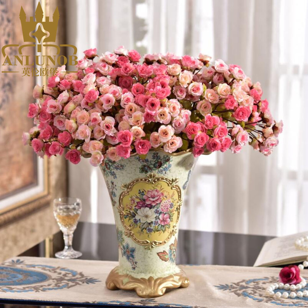 European style home decoration rose artificial flower with for Rose home decorations