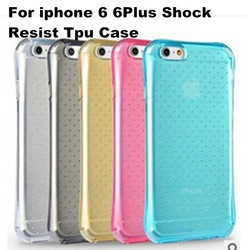 2015 Simple Special Wave Dot Pattern Back Slim TPU Shockproof Case Cover For iphone 6 6 Plus Wholesale 400 pcs/lot 9 Colors