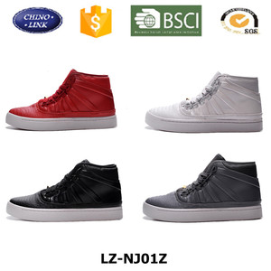 Customized Crocodile Skin men shoes casual , latest model new design fashion mens high top authentic skateboard shoes