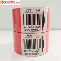 30mm * 100m Selling Red Food Manufacturers Date Codes Foil