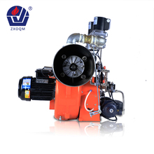 Gas and diesel oil fired burner for industrial steam boiler