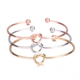 Factory Price Fashion Simple Wire Knot Jewelry Silver Gold Cuff Bangles knot bracelet
