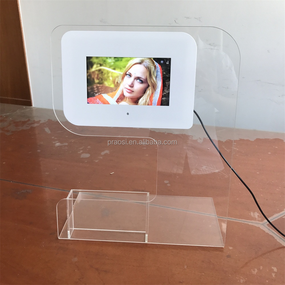 "Video MP3 picture 1080P HD play full function battery digital photo frame 7"" 8"""