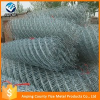 pvc coated 9 gauge chain link wire mesh fencing part (factory supplies)