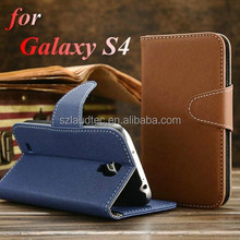 Magnet leather wallet card stand flip mobile phone case cover for Samsung Galaxy S4