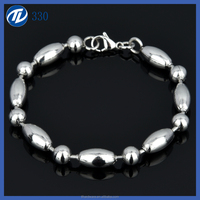 Inspiration And Fashion 316L Stainless Steel O Long Chain Bracelet Bangle Jewelry