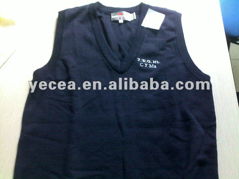 HOT selled little kids 30%wool school vest uniform