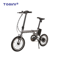 Tomini 2018 new folding electric bike 16inch 36v 250w foldable e bicycle bestseller ebike