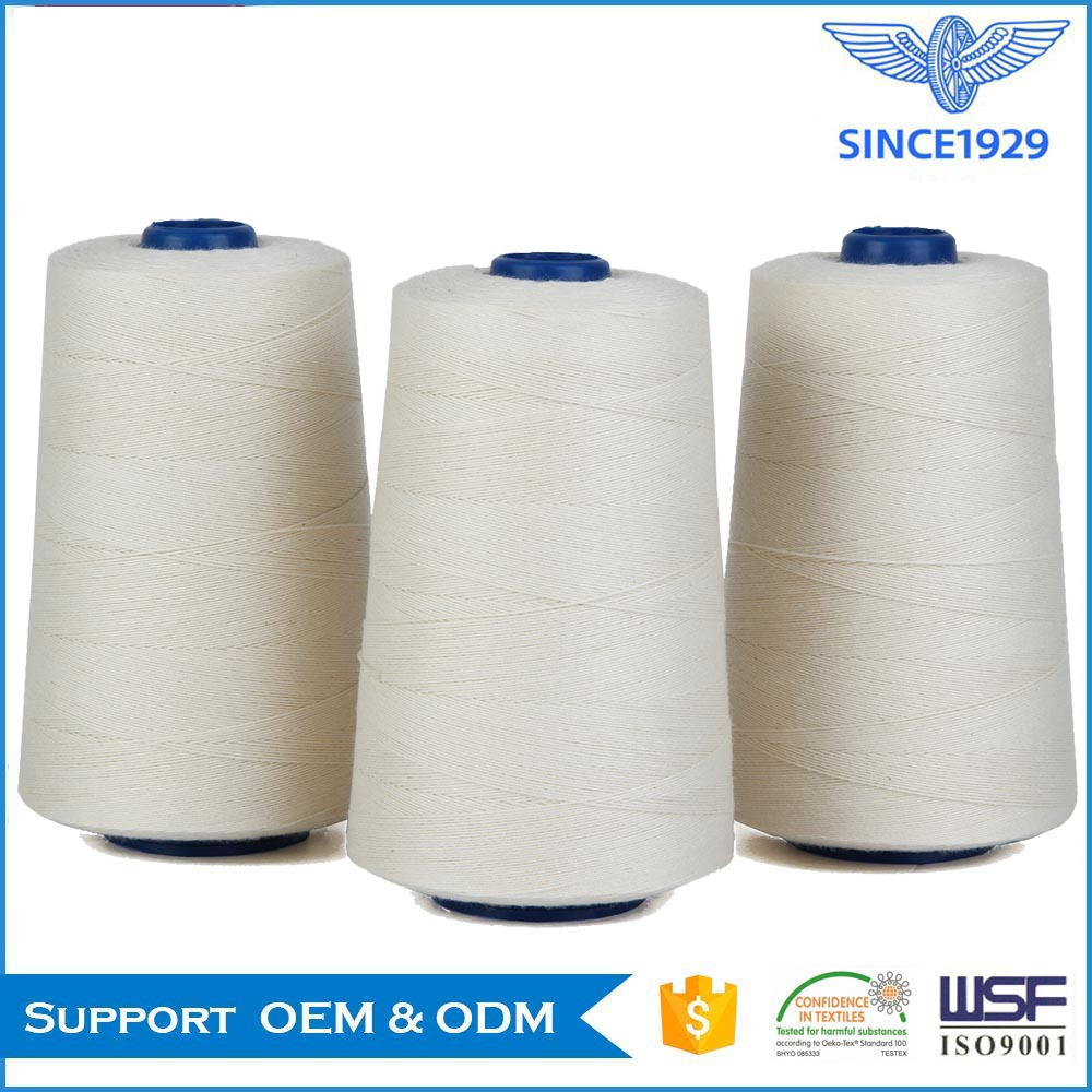 cotton sewing thread raw material for garment dyeing application 60/3