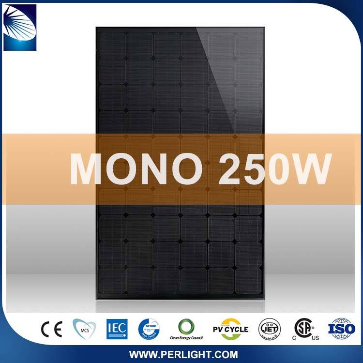 Photovoltaic High Quality Tilt Home 250W Mono High Voltage Solar Panels