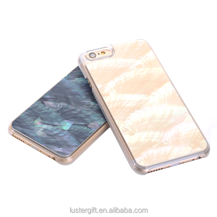New design Natural Seashell Mobile Phone Case for iPhone 6 Cell Phone Covers for Girls