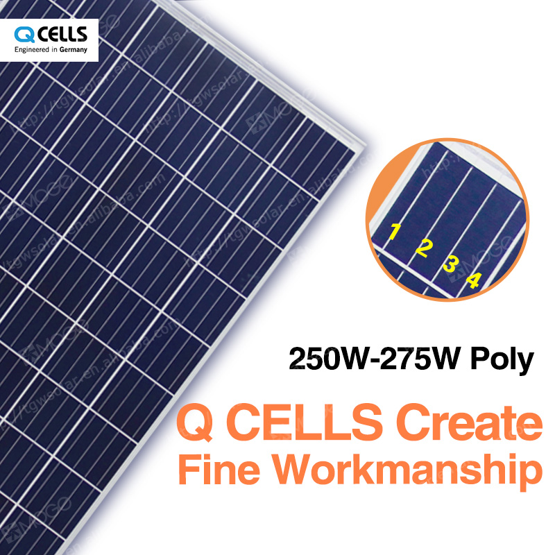 Q-cells photovoltaic 250 watt solar module,30v solar panel supplier in philippines