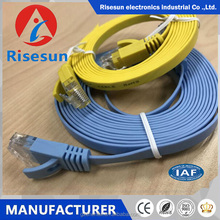 Guangzhou Risesun 2018 Flat type UTP FTP Cat5e Cat6 professional patch cable cord