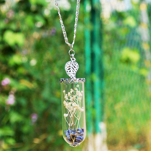 Diy sand and sea shell glass bottle necklace pendant long chain diy sand and sea shell glass bottle necklace pendant long chain necklace mozeypictures Choice Image