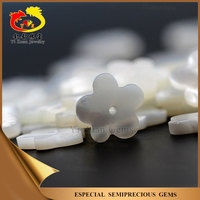 Semi-precious 5-Flower shape natural sea shell stone slice with hole