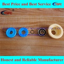 HDPE roller plastic bearing housing and labyrinth seals