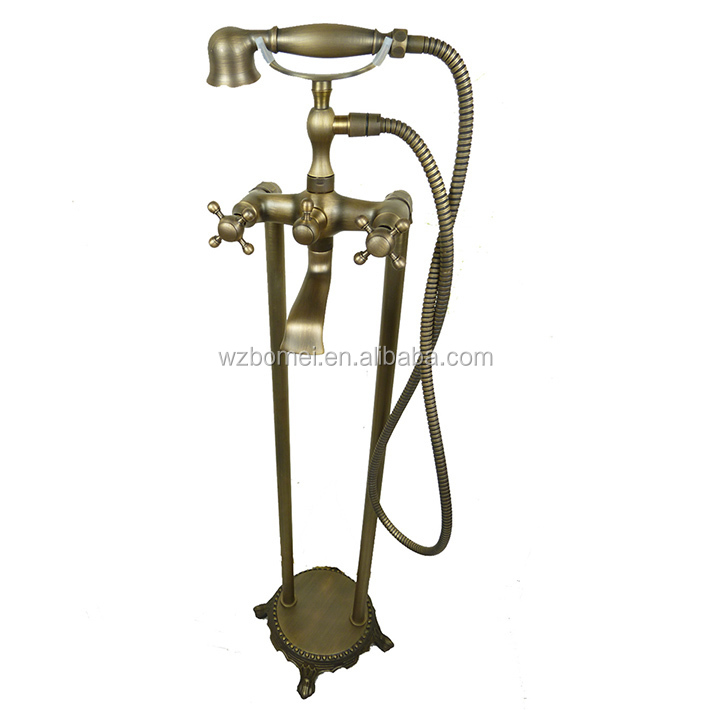 Classical antique brass Floor standing type toilet Hand Shower