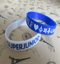 Hot selling kpop star wristband! silicone bracelet for super junior fan club