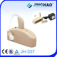 AC adapter charging or battery charging bte ear hearing aids