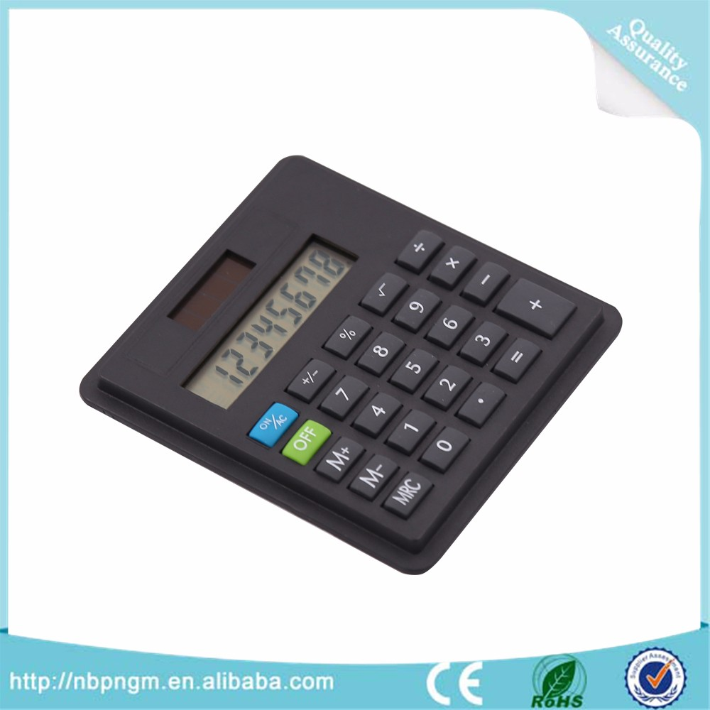 8-digital mini size small basic office desktop calculator