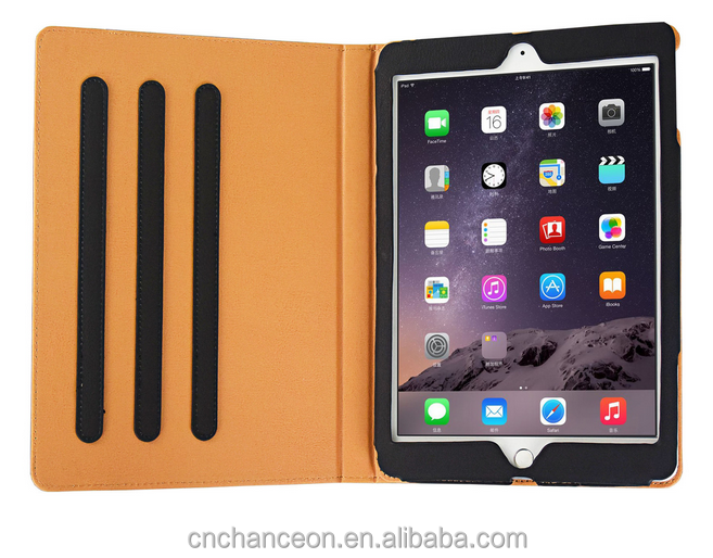 High quality Postcard design three gear PU leather case cover for ipad Air 2 ipad 2/3/4/ 5/6 ipad mini 2/3/4 CO-LTC-314