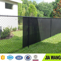 Hot sale chain link wire mesh PVC coated/chain link fence from Anping JIAWang