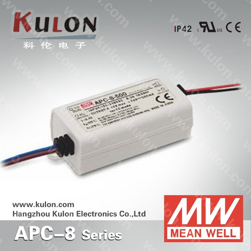 8w 250mA UL approved class 2 plastic enclosure led power supply