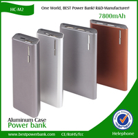 portable power bank real 8000mah dual usb charger power bank for iphone