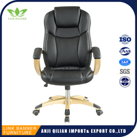 Luxury Executive Office Chairs Height Adjust PU Best Ergonomic Office Chair Senior Manager OU Leather